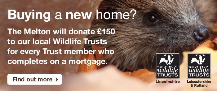 Buying a New Home? - The Melton will donate £150 to our local Wildlife Trusts for every Trust member who completes on a mortgage. Find out more